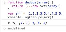 JS数组去重的方法