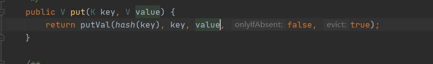 直接在调用putVal方法