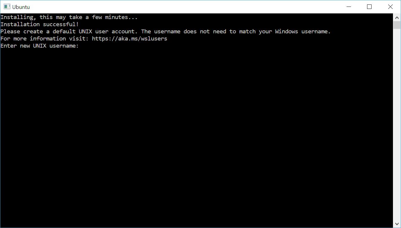 Windows 控制台中的 Ubuntu 解包