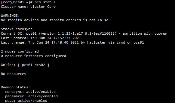 Redhat/Centos7 建立无共享存储浮动地址集群