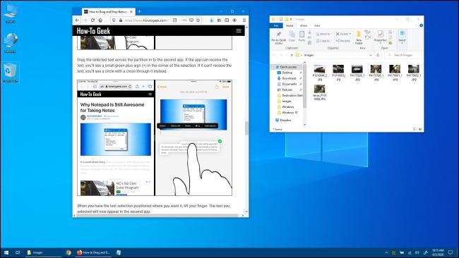 Windows 10 Desktop with Application Windows
