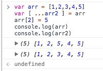 ES6扩展运算符实现数组的深拷贝