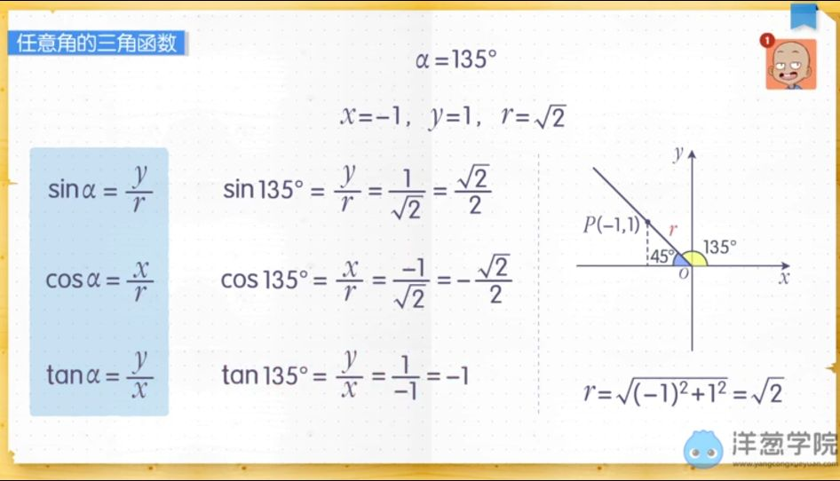 任意角的三角函数