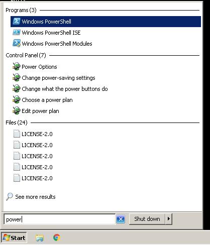 Open PowerShell From Start Menu