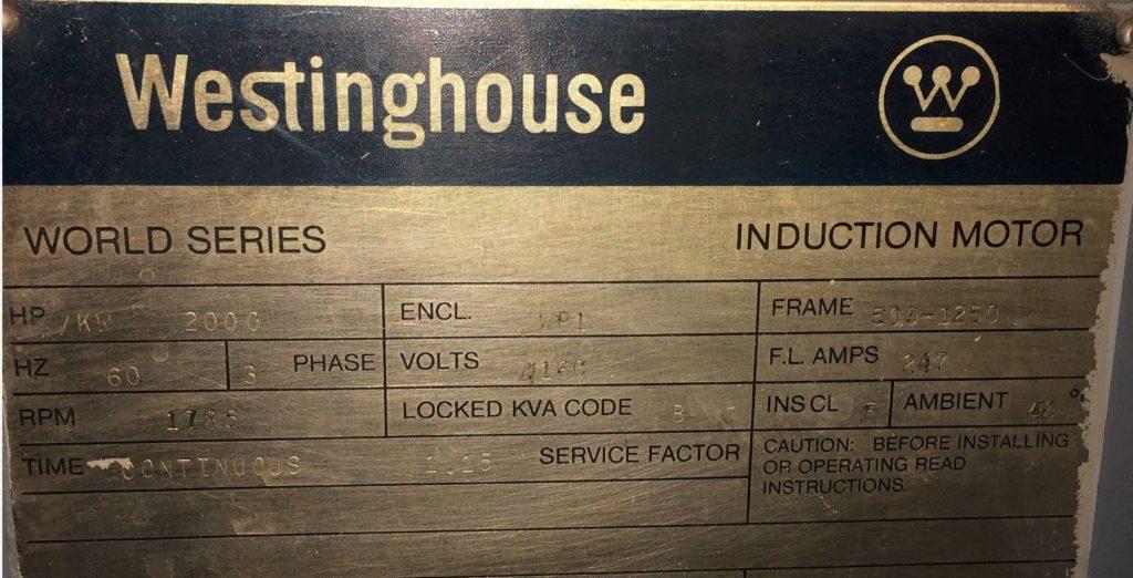 Motor Name Plate Data