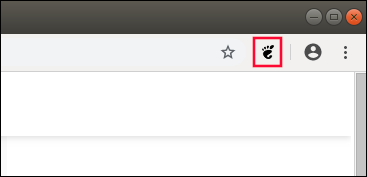 GNOME Icon in the Chrome toolbar