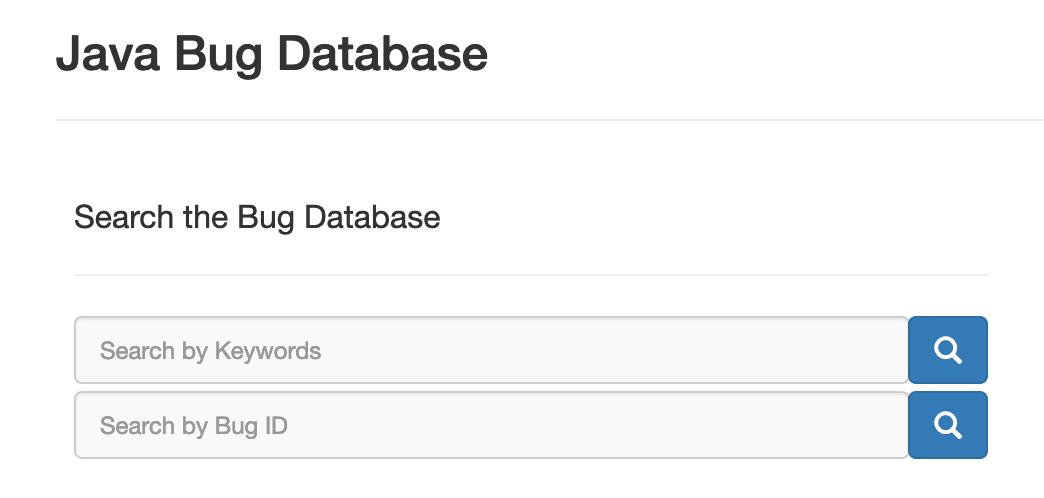 Java Bug 数据库