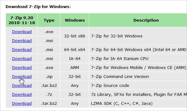 02_downloading_command_line_version_of_7zip