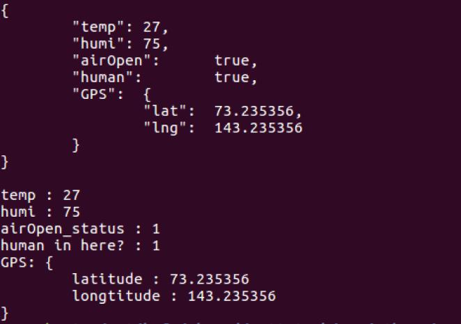 运行结果——JSON格式字符串的创建与解析
