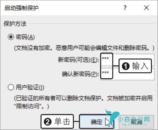 输入密码,如何设置word文档的修改权限
