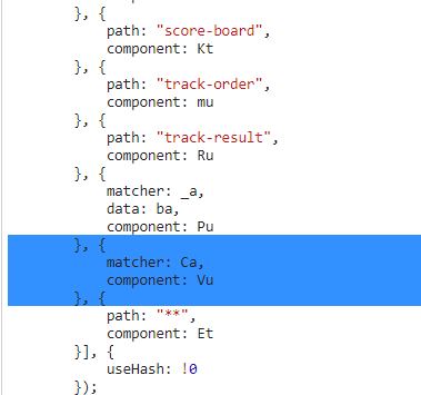 Tokensale route mapping in main-es2015.js