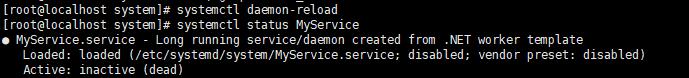 systemctl status MyService