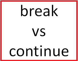 Difference Between break and continue in C