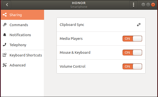 Honor smartphone settings