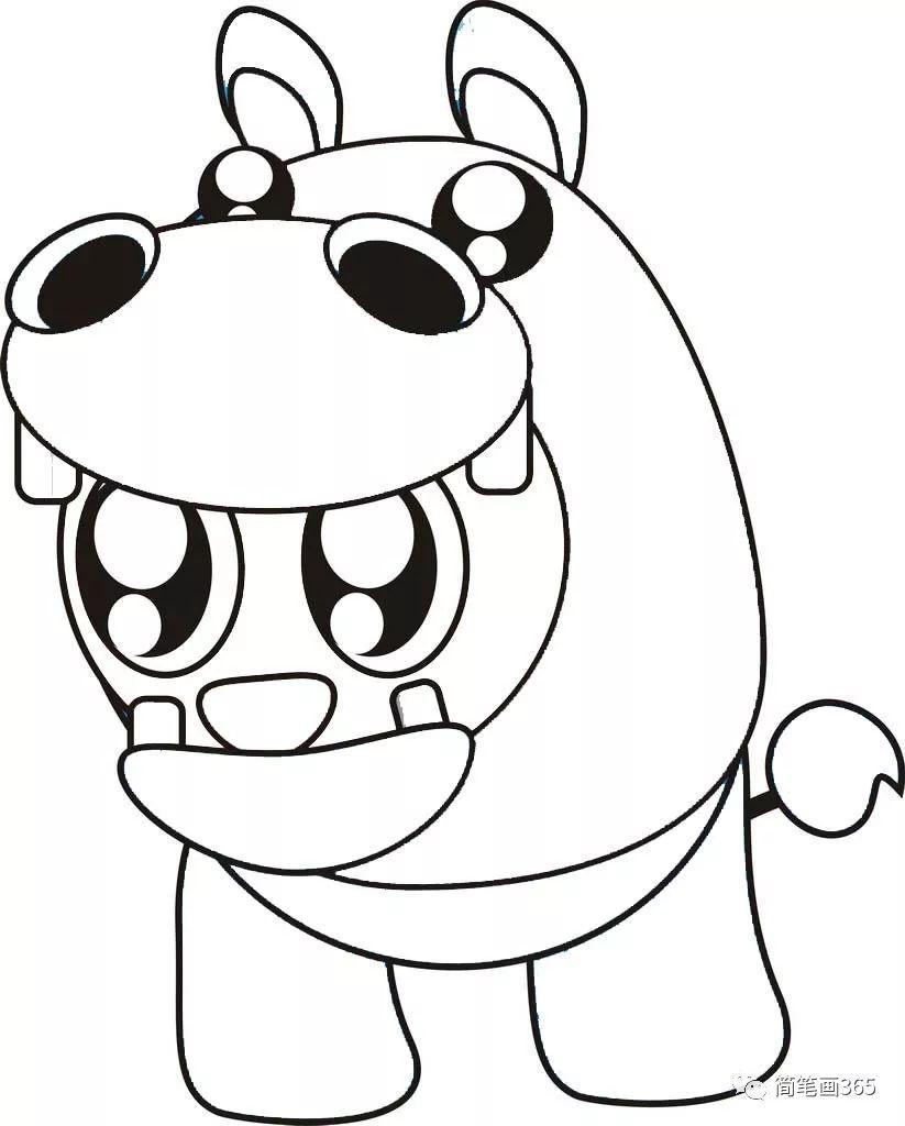 线条边框简笔画图片大全 动物简笔画动物 儿童简笔画大全