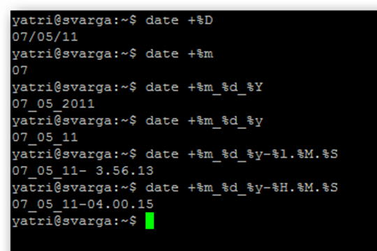 date output