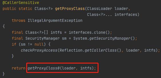 getProxyClass方法