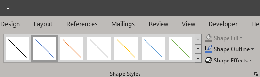 line format options