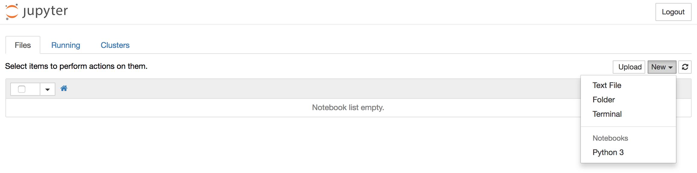 创建一个新的Python 3笔记本