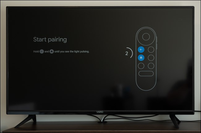 قم بإقران جهاز التحكم عن بُعد بجهاز Chromecast مع Google TV