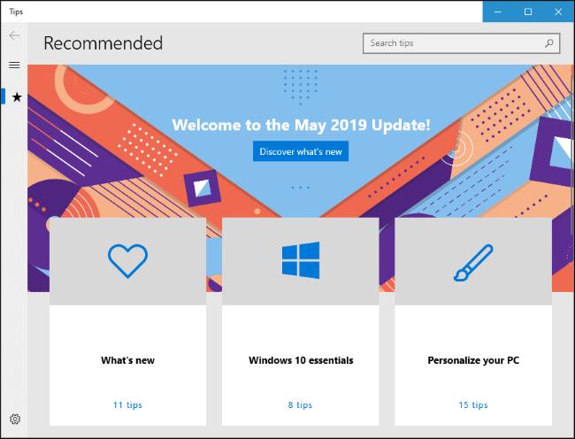 Windows 10's Tips app