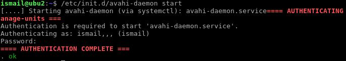 Starting Avahi
