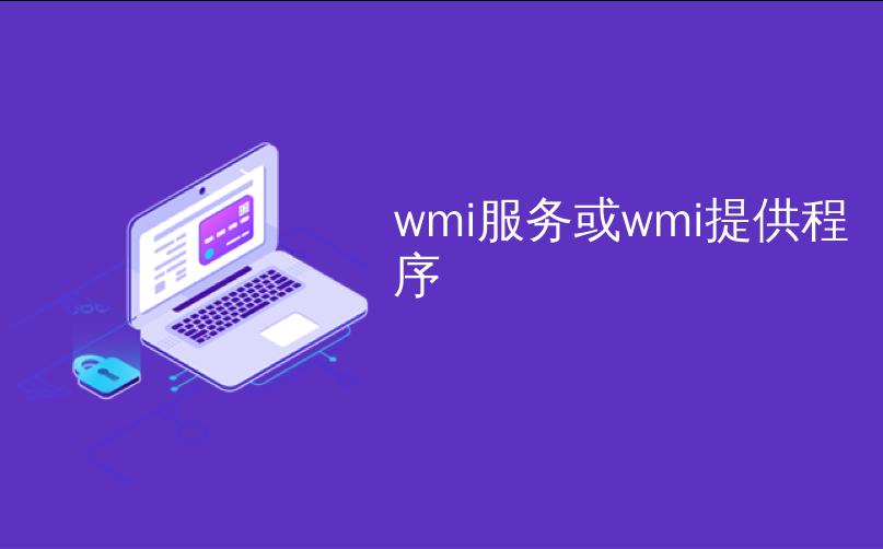 wmi服务或wmi提供程序