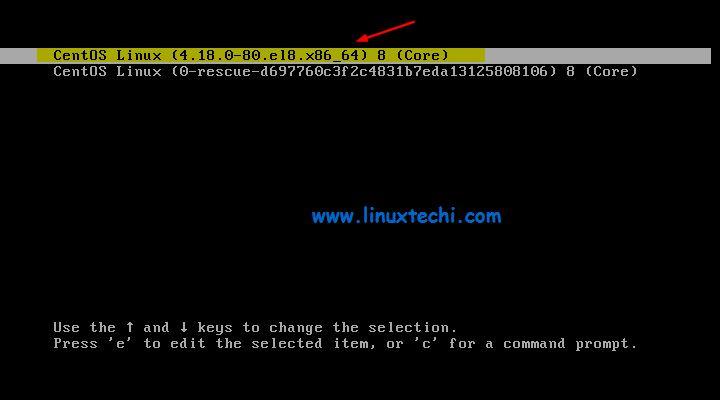 Grub-Boot-CentOS8