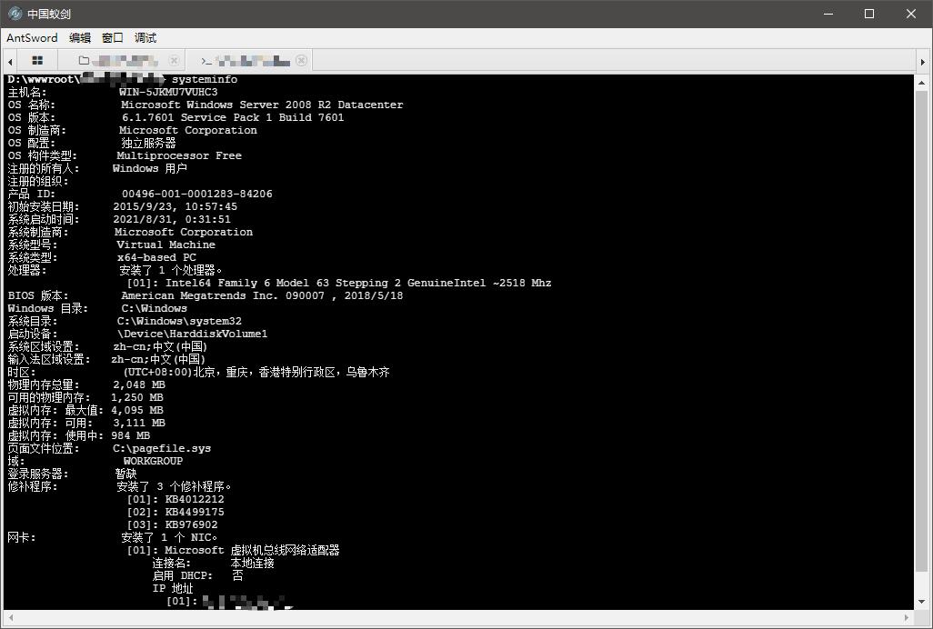 antsword-cmd-systeminfo