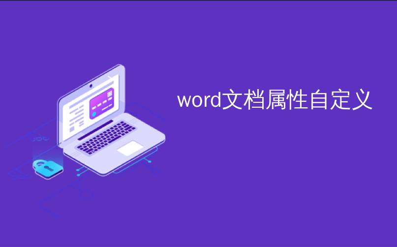 word文档属性自定义
