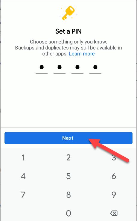 files by google set new pin