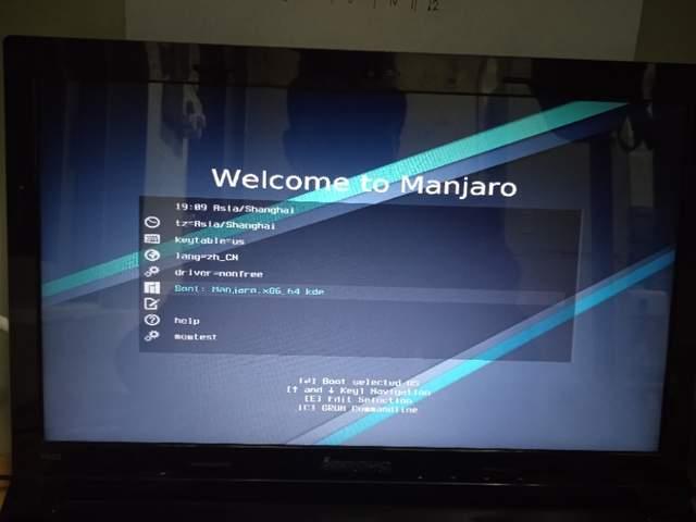 记录manjaro linux的U盘安装过程