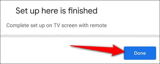 """لقد انتهيت من استخدام تطبيق Home وانقر على """"تم"""""""