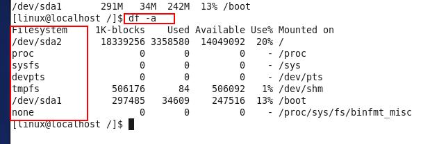 linux下怎样查看磁盘空间