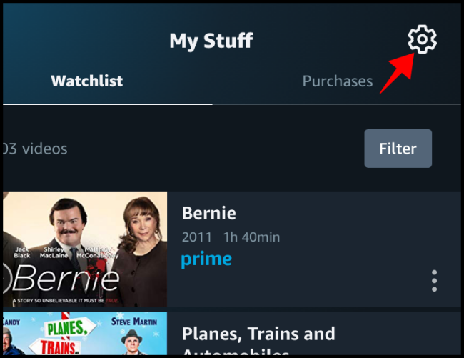 Prime Video Mobile My Stuff