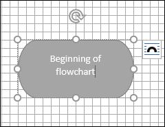 enter text in flowchart
