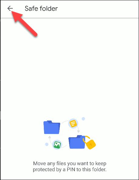 files by google safe folder