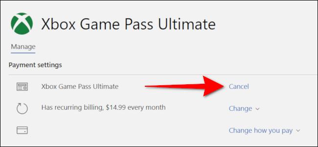 Cancel Xbox Game Pass on PC