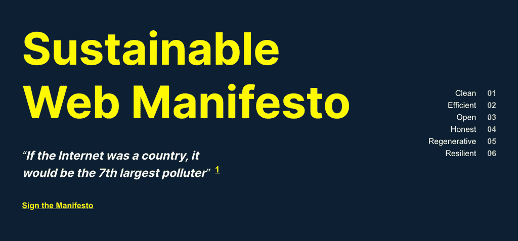 可持续网络宣言:今天就签署!