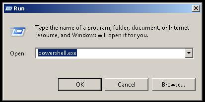 Open PowerShell From Run