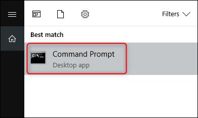 Open Command Prompt in Start Menu
