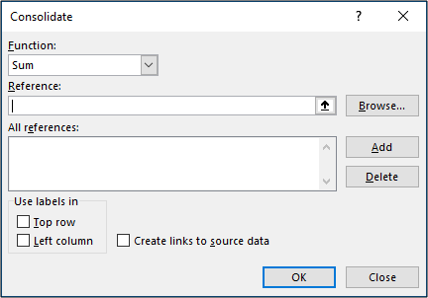 The Consolidate tool window