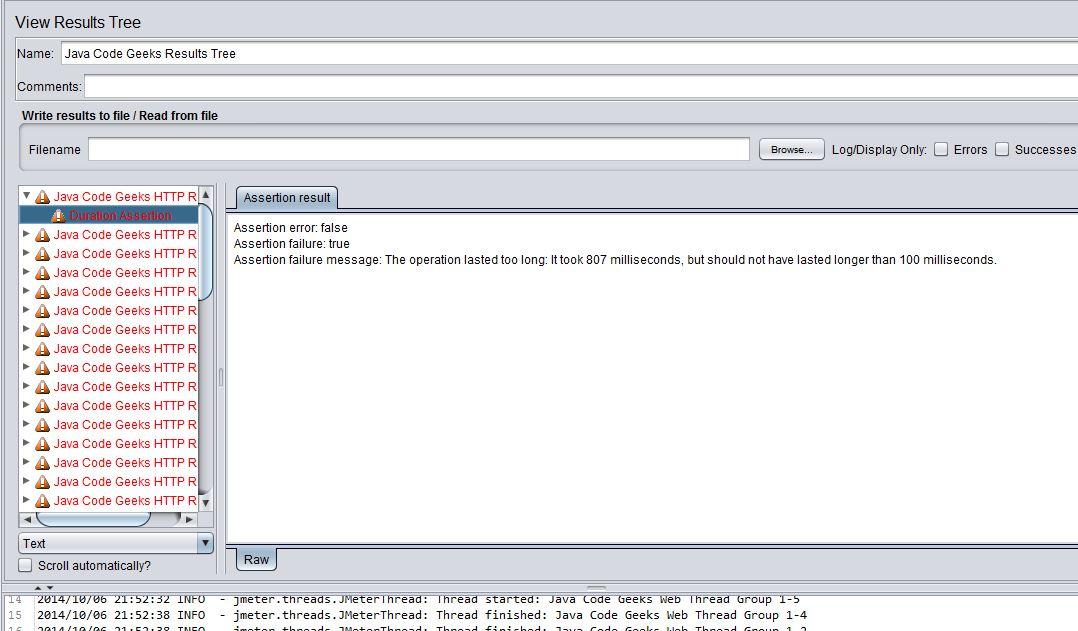 JMeter http结果错误声明持续时间
