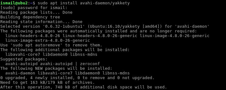 Installing Avahi