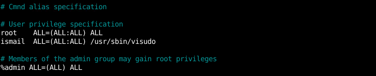 Specify A User To Run Sudo Command