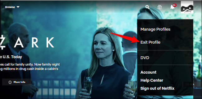 Signing out of a Netflix profile