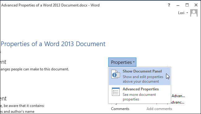 07_selecting_show_document_panel