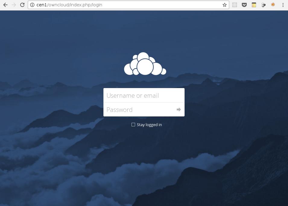 Login OwnCloud Web Interface