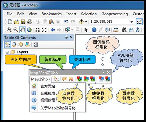 Map2Shp符号化工具——ARCGIS平台智能标注与批量符号化工具