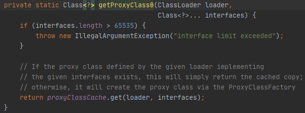 getProxyClass0方法